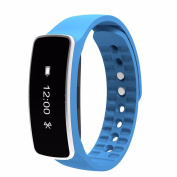 Gotd Smart Band, Call Message Reminder, Steps , Distance, Calorie, Sleep Cycle,Time Display, Sports Fitness Activity Tracker Pedometer Bracelet, Blue
