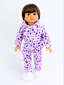 Lavender Heart Pyjamas | Fits 46cm American Girl Dolls, Madame Alexander, Our Generation, etc. | 46cm Doll Clothes