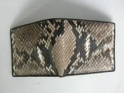 handmade genuine snake skin Leather bifold Wallet size 11x9.5 cm. RN39