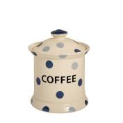 Blue Spot Earthenware Store Jar Coffee, Blue/ Cream