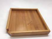 Musiccitytea Puer Tea Gong Fu Bamboo Tea Tray Small Size Best Seller Can Use As Serving Tea Tray Too