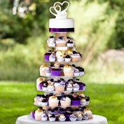 7 Tier HEAVY DUTY Acrylic Crystal Glass Cupcake Dessert Decorating Stand For Birthday Xmas Party Wedding