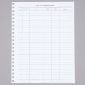 Menu Solutions R020 Reservation Book Replacement Sheets - 50/Pack