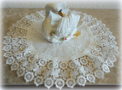 Doily Ivory Princess Lace European Dresser Table Scarf Topper