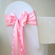ITALY'S HOME Pack of 60 satin chair sashes bow for wedding and Events Supplies Party Decoration chair cover sash