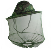 Camo Mosquito Net Hat Insect Midge Wasp Bug Head Face Mesh Fishing Camping Hiking