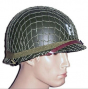 GPP® Perfect WWII US Army M1 Green Helmet Replica with Net/ Canvas chin strap