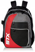 STX Lacrosse Sidewinder Lacrosse Backpack, Black/Red