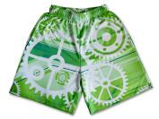 Lacrosse Threads Gears Boys Lacrosse Shorts Green Small