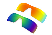 2 Pairs Polarised Lenses Replacement for Oakley Oil Rig Sunglasses Red & Green