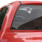 New England Patriots 8x8 White Logo Decal