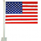 American Flags Car and USA Auto Flag