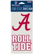 NCAA University Alabama Crimson Tide 10cm x 20cm die cut decals