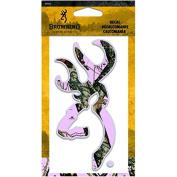 Browning Decal, Buckmark, 15cm , Mossy Oak/Break-Up Pink