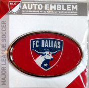 FC Dallas Raised Metal Domed Oval Colour Chrome Auto Emblem Decal MLS Soccer Football Club