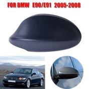 Jade Onlines Black Rear View Side Door Mirror Cover Caps Trim for 2005-2008 BMW 3-Series E90 E91 325i 328i 330i Sedan