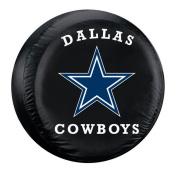 Fremont Die Dallas Cowboys NFL Spare Tyre Cover (Large) (Black) FMT-98303