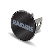 NFL Oakland Raiders Laser Cut Metal Hitch Cover, Large, Silver