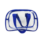 Clear Purse that is NFL Stadium Approved. Clear Handbags for Cosmetics, Makeup, and Travel. Clear Bag Made of Transparent Plastic