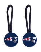 New England Patriots Zipper Pull Charm Tag Set Luggage Pet ID Nfl