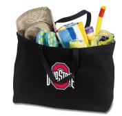 JUMBO OSU Buckeyes Tote Bag or Large Canvas Ohio State University Shopping Bag