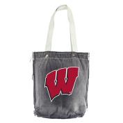 NCAA Wisconsin Badgers Vintage Shopper, 33cm x 36cm , Black
