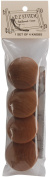 AMERICAN DREAM PRODUCTS Oak Frame Knobs, 4-Pack