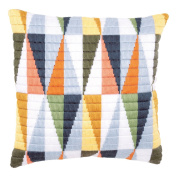 Long Stitch Cushion: Triangles
