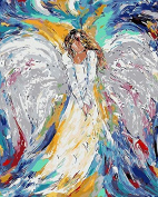 Arts Language Wooden Framed 41cm x 50cm Paint by Numbers Diy Painting -Flowing colour angel