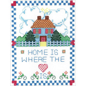 Bucilla Stamped Cross Stitch Kit (18cm x 23cm ), 46183 Home Is Where The Heart Is