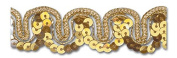 GOLD / GOLD 1.6cm SEQUIN TRIM 5 Yards
