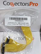 "Pc Accessories - Connectors Pro 2-Pack 6"" 15cm IDC 16P Yellow 1.27mm Flat Ribbon Cable, 5 Inches 12cm Length with 2.54mm FC 16 Pins Female to Female"