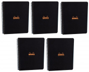 Pack of 5 Rhodia Side Spiralbound Large Meeting Book