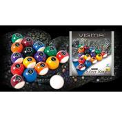 New Vigma Silver Ring Billiard Pool Ball Set