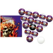 New Vigma Flaming Skull Billiard Pool Ball Set