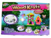 Grafix New Wood Kraft Craft Garden Set Wooden Bird Table House Windchime Paint For Age 7+