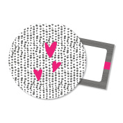 C.R. Gibson Gift Enclosure Card, By Iota Chic, Includes Printed Envelopes, Measures 7.6cm x 7.6cm - Beachcomber-Hearts