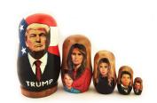 President Donald Trump Family Russian Wooden Nesting Doll 5 Nested 8.9cm