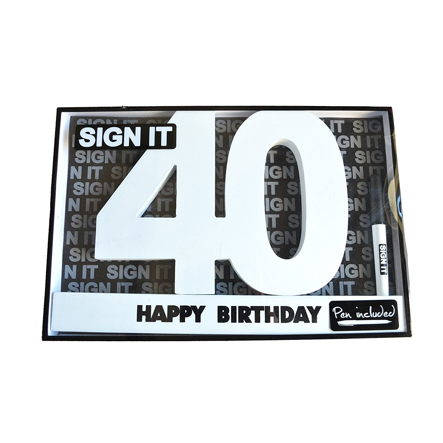 Happy 40th Birthday Wooden Signature Number Landmark Sign It By Gifts