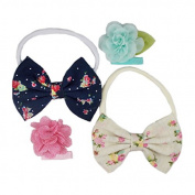 Floral Delight - Mini DIY Headband & Clip Kit - Nylon Headbands - Baby Shower Headband Station - Fashion Clips for Birthday Party & Baby Shower Games