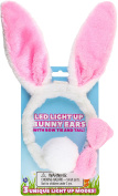 Kangaroo Light Up Toys- LED Plush Easter Bunny Ears and Tail, Plus Bowtie