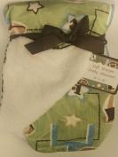 Baby Blanket Football Sage Reversible