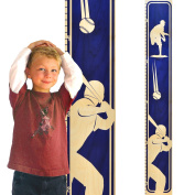 Growth Chart Art | Wooden Height Chart | Baseball Growth Chart for Boys | Sports Themed Nursery Decor | Baseball Blue