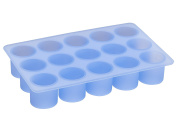 Lurch Germany 2.8cm x 2.8cm Silicone Cylinder Shaped Ice Cube Tray, Blue