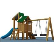 Shatex 130cm x 230cm Waterproof Canopy Kits for Backyard Wood Playset Swing Set Dark Green