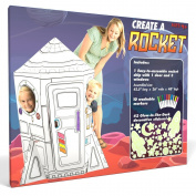 Create a Rocket Playhouse - Includes Markers and Over 40 Glow-in-the-dark Stickers!