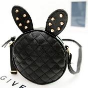 Girl Rabbit Ears Rivets Pu Leather Handbag Shoulder Bag