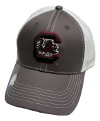 South Carolina Gamecocks Adjustable Grey Cap Mesh Back Hat