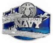 Navy Midshipmen Military Pewter Belt Buckle - U.S. Navy