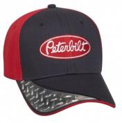Peterbilt Motors Visor Diamond Plate Embroidered Cap